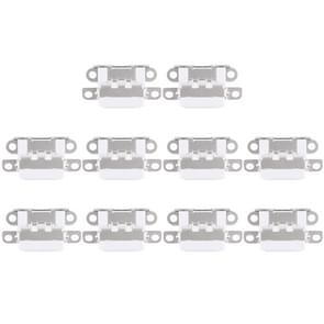 10 stuks opladen Port-Connector voor iPhone 6 Plus(White)