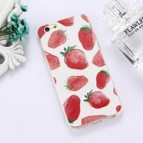 For iPhone 6 Plus & 6s Plus TPU Embossed Strawberry Pattern Dropproof Protective Case Back Cover