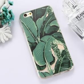 For iPhone 6 Plus & 6s Plus TPU Embossed Banana Leaf Pattern Dropproof Protective Case Back Cover