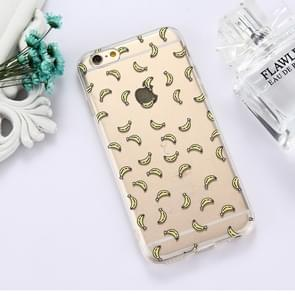 For iPhone 6 Plus & 6s Plus TPU Embossed Banana Pattern Dropproof Protective Case Back Cover