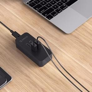 ORICO DCV-4U 4 poorten 5V / 2.4A Desktop USB oplader voor Smartphones, Tablets, Power banken EU stekker(zwart)