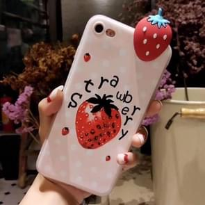 Voor iPhone 6 Plus & 6s Plus Fashion Papa Fruit aardbei patroon back cover beschermhoes