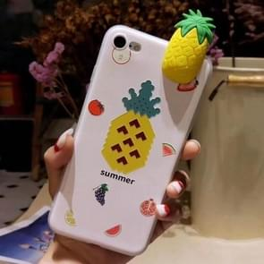 Voor iPhone 6 Plus & 6s Plus Fashion Papa Fruit ananas patroon back cover beschermhoes