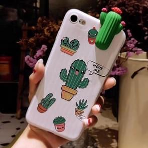 Voor iPhone 6 Plus & 6s Plus Fashion Papa Plant Cactus patroon back cover beschermhoes