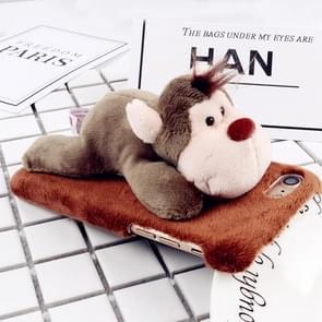 Voor iPhone 6 Plus & 6s Plus Fashion pluche mooie Monkey Doll speelgoed back cover beschermhoes (bruin)