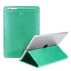 Universal Case Sleeve Bag for iPad 2 / 3 / 4 / iPad Air / Air 2 / Mini 1 / Mini 2 / Mini 3 / Mini 4 / Pro 9.7 /  Pro 10.5, with Pencil Case & Holder(Green)