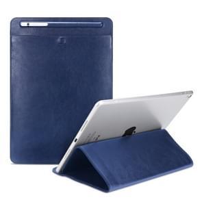 Universal Case Sleeve Bag for iPad 2 / 3 / 4 / iPad Air / Air 2 / Mini 1 / Mini 2 / Mini 3 / Mini 4 / Pro 9.7 /  Pro 10.5, with Pencil Case & Holder(Blue)