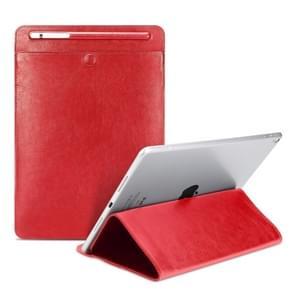 Universal Case Sleeve Bag for iPad 2 / 3 / 4 / iPad Air / Air 2 / Mini 1 / Mini 2 / Mini 3 / Mini 4 / Pro 9.7 /  Pro 10.5, with Pencil Case & Holder(Red)