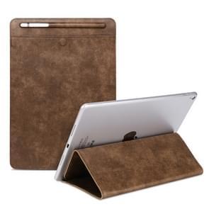 Universal Case Sleeve Bag for iPad 2 / 3 / 4 / iPad Air / Air 2 / Mini 1 / Mini 2 / Mini 3 / Mini 4 / Pro 9.7 /  Pro 10.5, with Pencil Case & Holder(Brown)