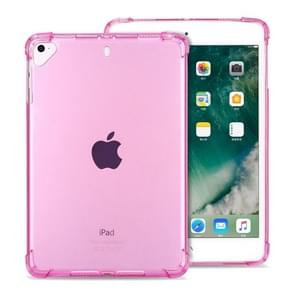 Highly Transparent TPU Full Thicken Corners Shockproof Protective Case for iPad 9.7 (2018) & (2017) / Pro 9.7 / Air 2 / Air(Pink)