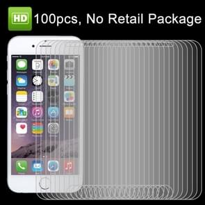 100 PCS for iPhone 7 HD Non-full Screen Protector, No Retail Package