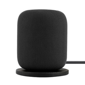 HomePod Speaker Base Apple Artificial Intelligence Bluetooth Speaker Genuine leather Desktop Mat(Black)