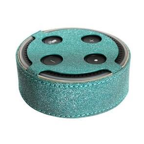 1188 Amazon Echo Dot 2 intelligente Bluetooth Speaker met platbinding Flash PU beschermende Case Amazon bescherming Cover(Green)