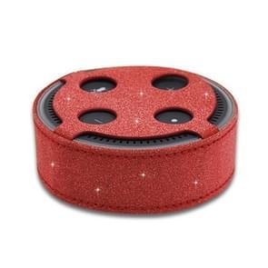 1188 Amazon ECHO dot 2 intelligente Bluetooth Speaker plain weave Flash PU beschermende case Amazon bescherming dekking (rood)