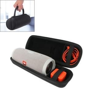 Hard PU Leather Portable Zipper Bluetooth Speaker Protective Case Shoulder Bag for JBL Charge 3 Bluetooth Speaker(Black)