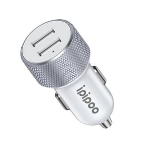 ipipoo XP-2 Dual USB auto snel opladen lader met Android lijn (wit)