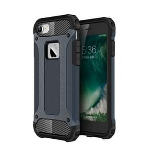 For  iPhone 8 & 7  Tough Armor TPU + PC Combination Case(Dark Blue)