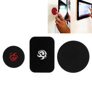 Universele magnetische sticker muur vaste beugel voor iPhone/iPad (zwart)
