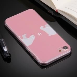 For  iPhone 8 & 7  Embossed Sea Lions Pattern Soft TPU Protective Cover Case