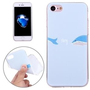 For  iPhone 8 & 7  Embossed Shark Pattern Soft TPU Protective Cover Case