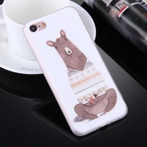 For  iPhone 8 & 7  Embossed Kangaroo Pattern Soft TPU Protective Cover Case