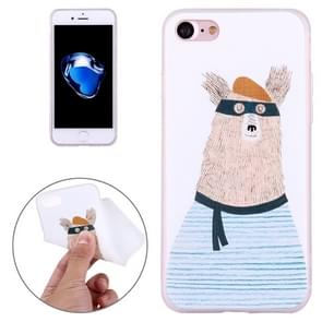 For  iPhone 8 & 7  Embossed Cartoon Animal Pattern Soft TPU Protective Cover Case