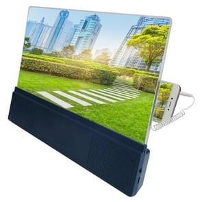F5 12 inch universele mobiele telefoon scherm versterker HD video versterker met stand & speaker, opladen versie