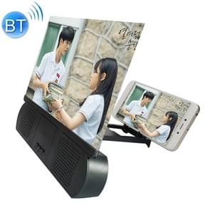 F9 10 inch universele mobiele telefoon scherm versterker HD video versterker met siliconen zuignap stand & Bluetooth Speaker (zwart)