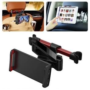 CHZ-06 Intrekbare auto rugleuninghouder voor 7-14 inch mobiele telefoons / tablets (rood)