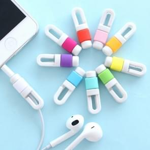 Earphone Headphone Wire Cable Line Protective Cover Winder Cord Wrap Organizer, Random Color Delivery