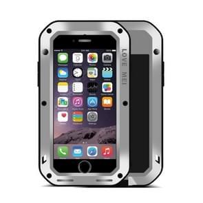 LOVE MEI voor de iPhone 7 Professional en krachtige stofdicht Shockproof anti-slip metaal beschermende Case(Silver)