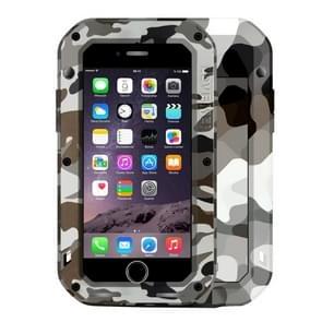LOVE MEI voor de iPhone 7 Desert Camouflage patronen Professional en krachtige stofdicht Shockproof anti-slip metaal beschermhoes