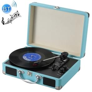 EC102B Suitcase Design Music Disc Player Tuntable Record Player(Blue)