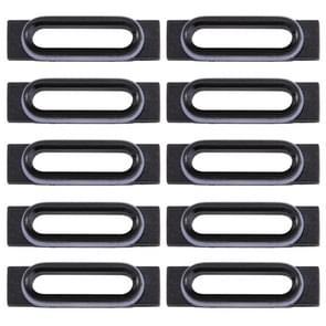 10 stuks voor iPhone 7 opladen poort behoud Brackets(Black)