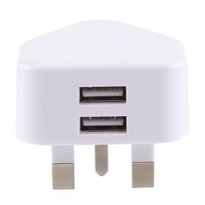 JOYROOM JR-L206 Portable 5V/3.4A(2.4A/1A) Dual USB Port Smart Quick Charge Travel Charger, For Smartphones & Tablets & Power Bank & Bluetooth Headset, 100-240V Wide Voltage, UK Plug