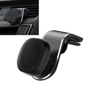 KUULAA F20 horizontale strepen auto plastic clip magnetische zuiging mobiele telefoon beugelhouder (zilver)
