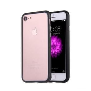 Voor  iPhone 8 & 7  siliconen + Metal Aluminum Bumper Frame(zwart)