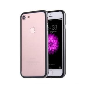 Voor  iPhone 8 & 7  siliconen + Metal Aluminum Bumper Frame(grijs)