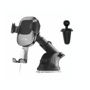 JOYROOM Glare Series JR-ZS190 Car Suction Cup / Air Outlet Gravity Phone Bracket (Black)