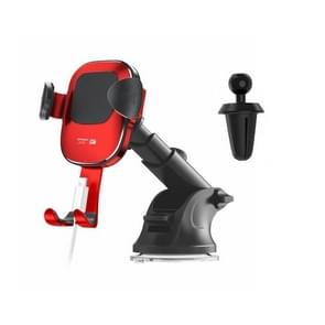 JOYROOM Glare Series JR-ZS190 Car Suction Cup / Air Outlet Gravity Phone Bracket (Red)