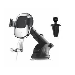 JOYROOM Glare Series JR-ZS190 Car Suction Cup / Air Outlet Gravity Phone Bracket (Silver)