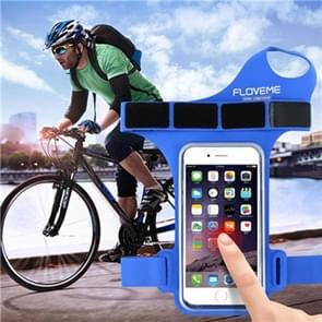 FLOVEME Universal Sport Cycling Thumb Armband Wristband Case ,Suitable for 5 to 5.5 Inch Mobile Phones(Blue)