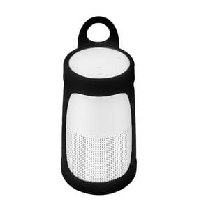 Portable Silica Gel Bluetooth Speaker Protective Case for BOSE Soundlink Revolve+ (Black)