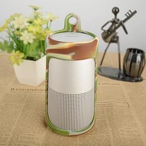 Draagbare schokbestendige silica gel Bluetooth Speaker beschermhoes voor Bose SoundLink revolve (camouflage)