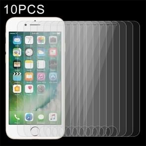 10 stuks voor iPhone 8 Plus & iPhone 7 Plus 0 26 mm 9H oppervlakte hardheid 2.5D explosieveilige getemperd glas Non-full Screen Film