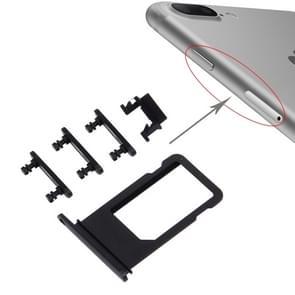 Kaart lade + Volume Control-toets + Power knop + Mute Switch Vibrator-toets voor de iPhone 7 Plus (zwart)