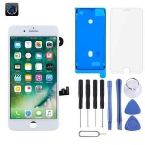 LCD-scherm en Digitizer Full Assembly zijn voorzien van frontcamera voor iPhone 7 Plus (wit)