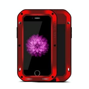 LOVE MEI for iPhone 7 Plus Professional and Powerful Dustproof Shockproof Anti-slip Metal Protective Case(Red)