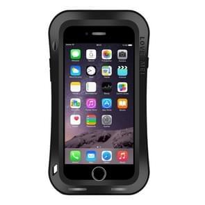 LOVE MEI for iPhone 7 Plus Waistline Triobump Professional and Powerful Dustproof Shockproof Anti-slip Metal Protective Case(Black)