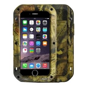 LOVE MEI for iPhone 7 Plus Jungle Camouflage Patterns Professional and Powerful Dustproof Shockproof Anti-slip Metal Protective Case
